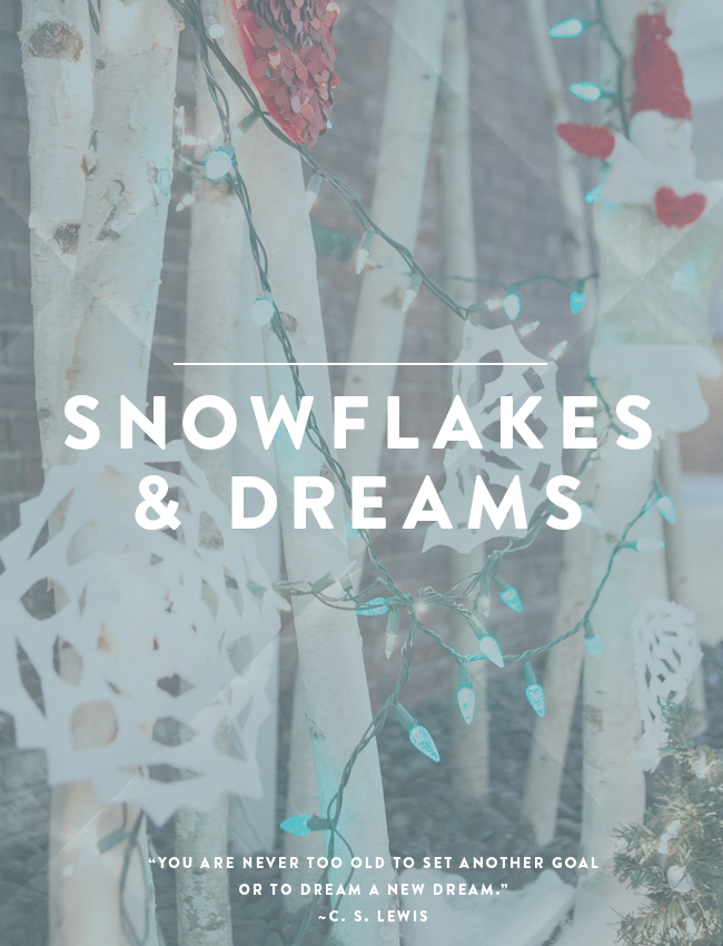 snowflakes & dreams poster.